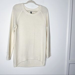DIVIDED Cream colored long sweater. SZ 8